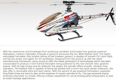 Radial G20 Gas powered RC Helicopter Images