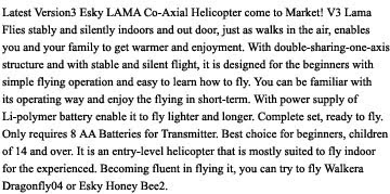 esky lama 3 coaxial helicopter description images