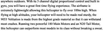 RC Helicopter 9053 volitation Description 2