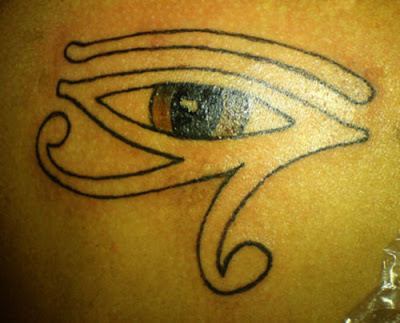 Egyptian Eye Tattoo. Many people think about getting a tattoo. There are a lot of ideas out there to