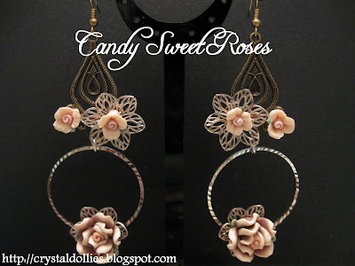 Candysweetroses171108 - Clay Flower Ear Rings