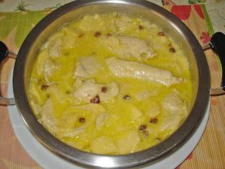 Pechuga de pavo con curry y manzana