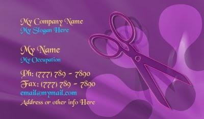 Salon Business Cards Hip And Groovy Retro Salon Business