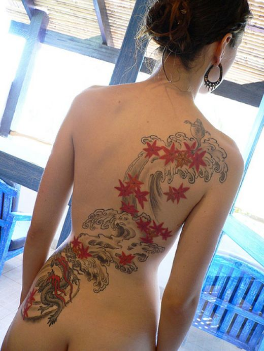 So, the female tattoos are smaller and beautiful.