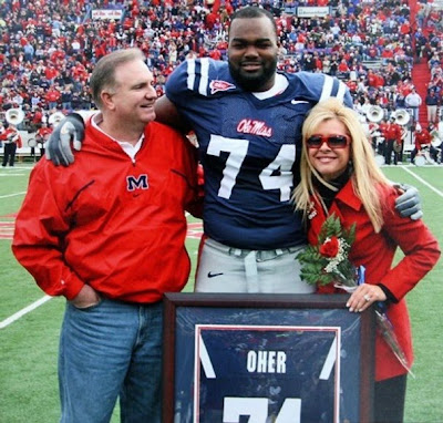 ing on movie review the blind side pictured above are the real sean michael and leigh anne at ole miss the blind side