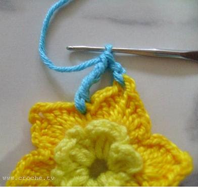 passo a passo flor de crochet