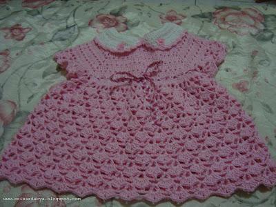 vestido bebe de crochet
