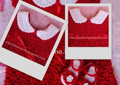 vestido bebe de croche