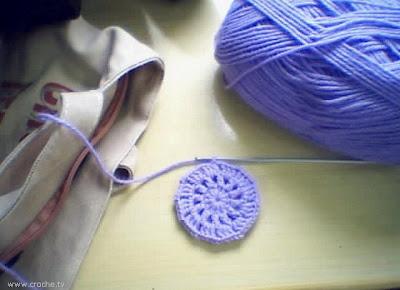 manta ripple de crochet estrela