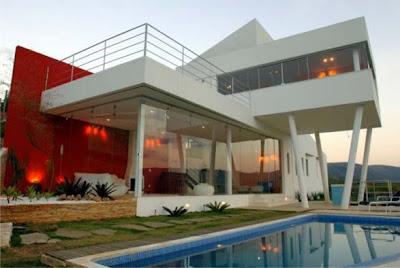 fachadas de sobrados residenciais