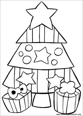 arvore de natal para pintar 3