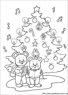 arvore de natal para pintar 2