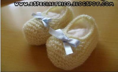 receita do sapatinho de bebe de trico