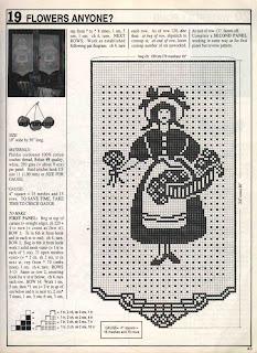 gráfico da cortina de croche
