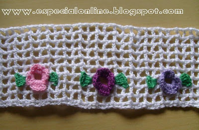 barrinhas de crochet