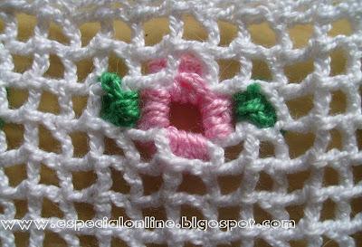 barrados de crochê