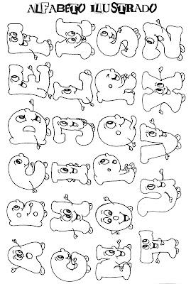 alfabeto para colorir e recortar
