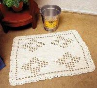 gráficos e receitas de tapete de crochê