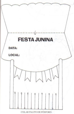 molde de convite para festa junina