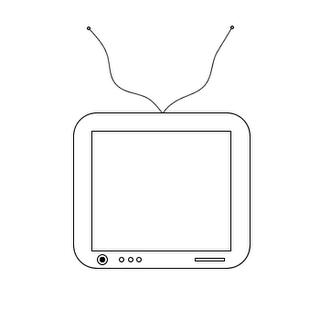 televisão para colorir