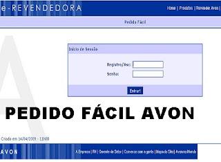 PEDIDO FACIL AVON