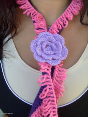 cachecol de crochet loop