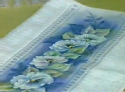 pintura em tecido molhado tecnica