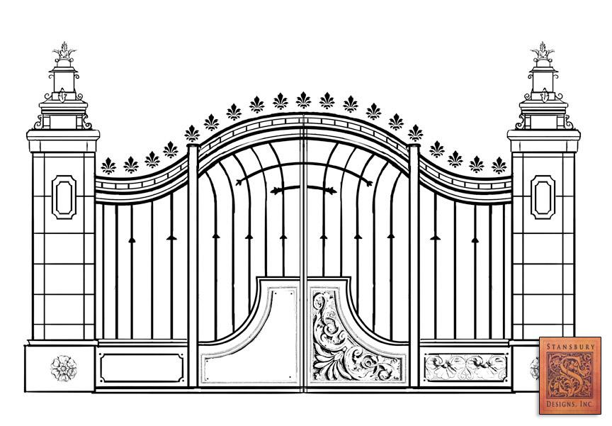 pagar gerbang rumah nan menawan rancangan presisi yang