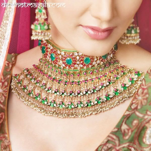 Indian Jewellery Designs Diamond Sets South Wedding India Gold