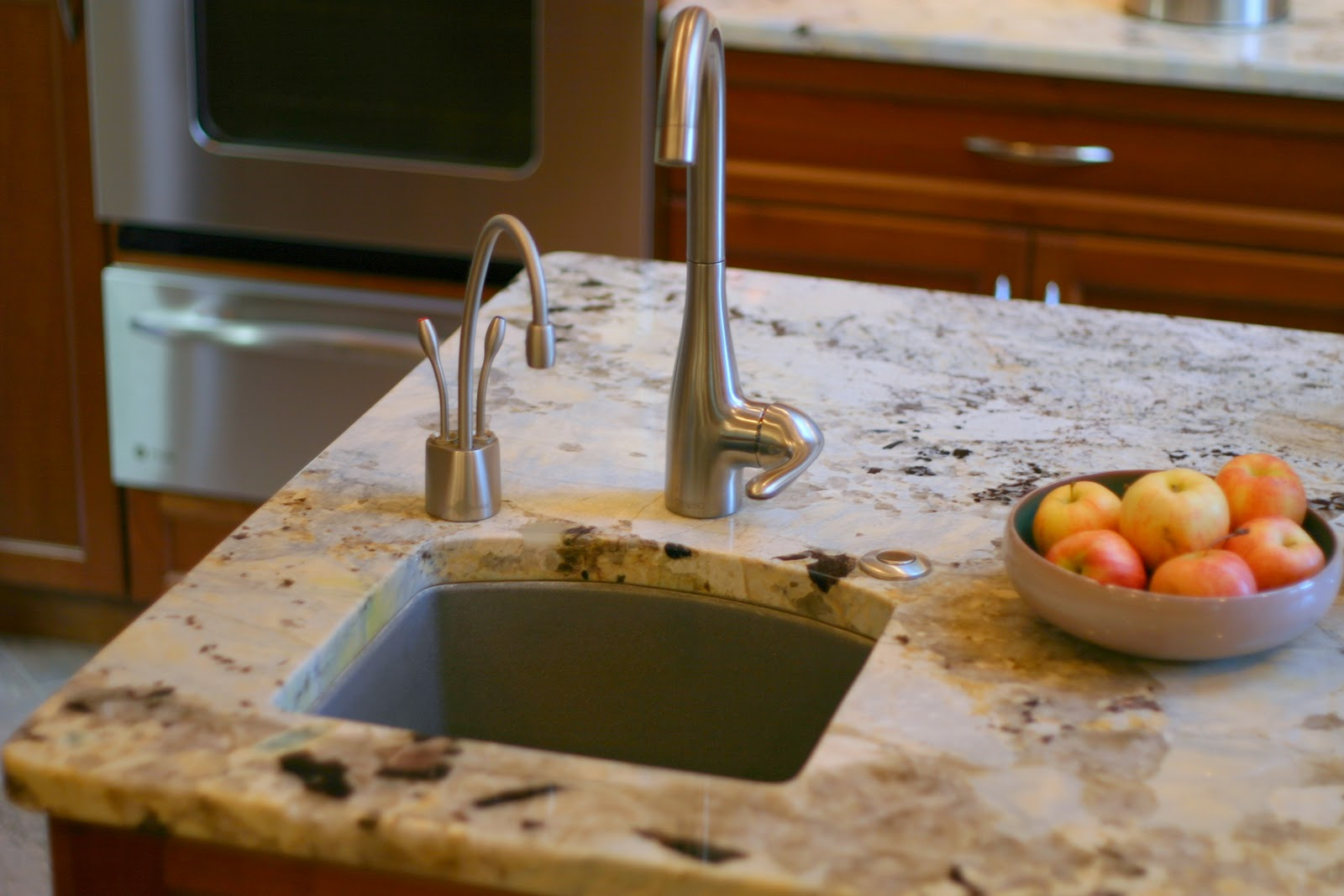 Crushed Granite Sink : ... is natural stone with a decorative border of stone and crushed glass