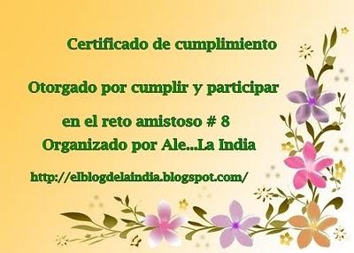 Certificado de cumplimiento reto N° 8
