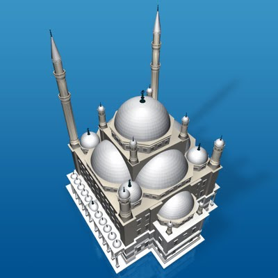 3D model - Mohammad Ali's Mosque