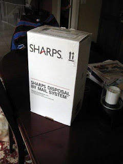 sharps box packaged up