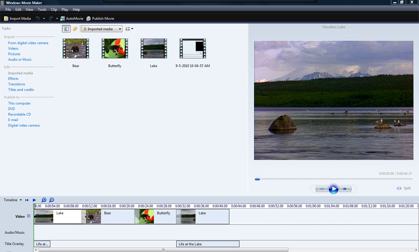 I Also Experimented With Windows Movie Maker On My Windows Vistaputer  Before Using Movie Maker To Edit Any Video, I Found An Excellent Online  Tutorial