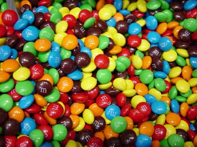 These are actually m&m minis, which are increasingly hard to find these days.