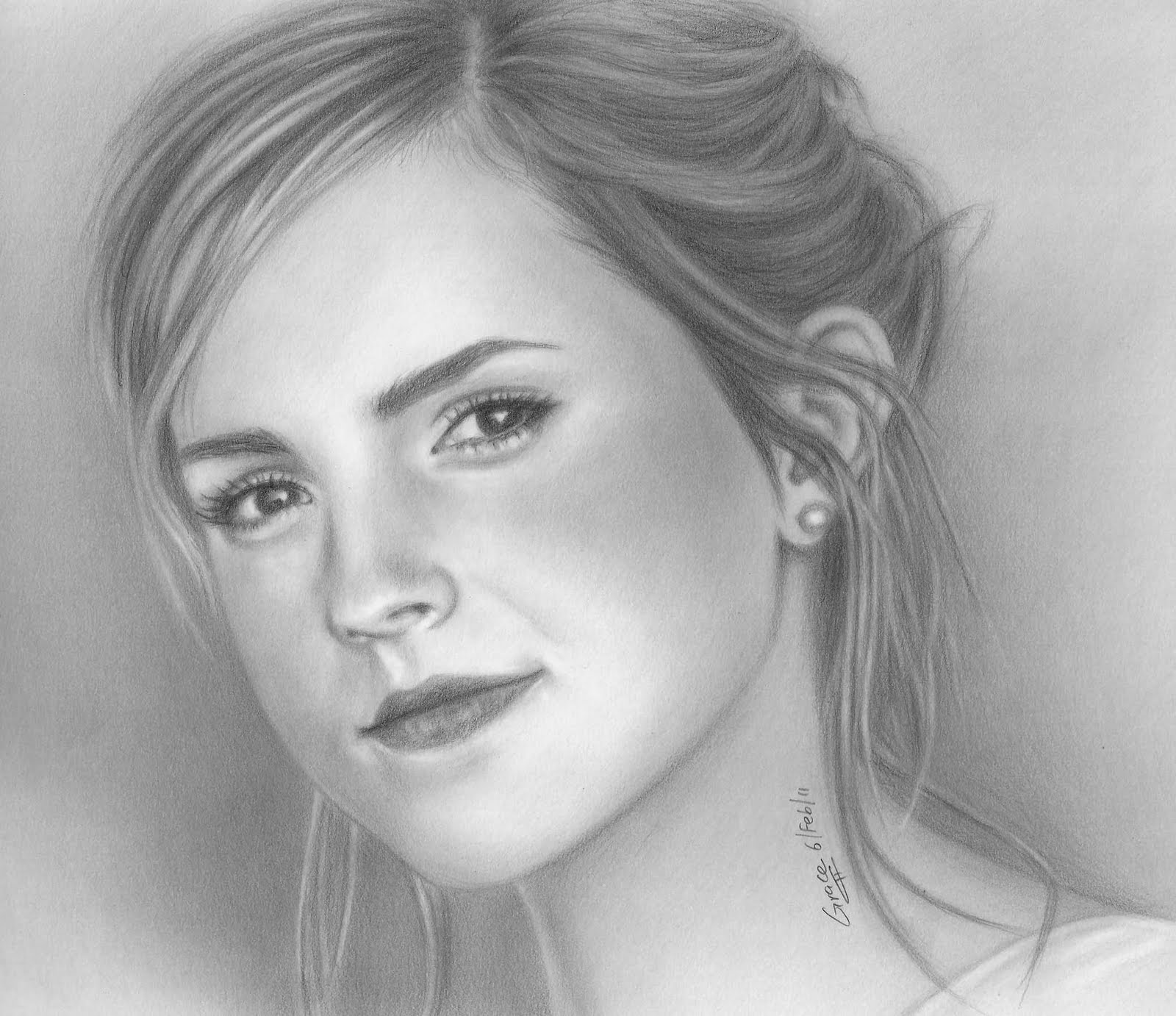 Grace in progress a pencil portrait of emma watson 2