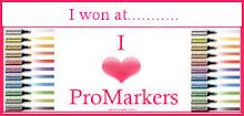 I won I love Promarkers challenge 11