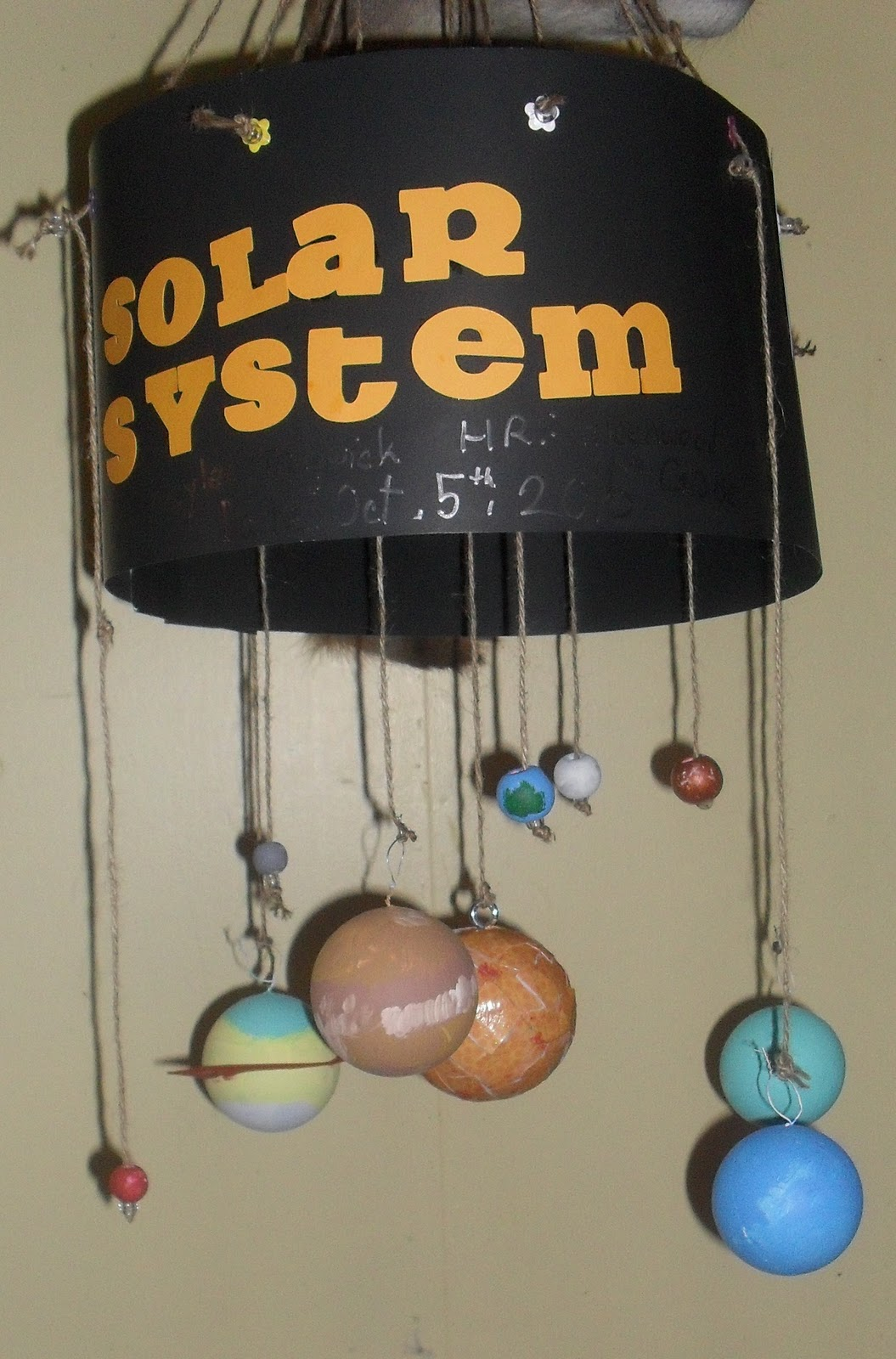 supplies for a homemade solar system 3d project - photo #38