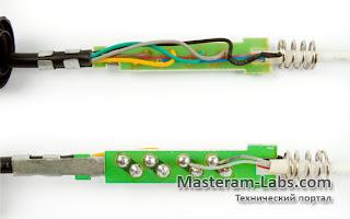 Распайка нагревательного элемента и термодатчика паяльника Lukey 852D+