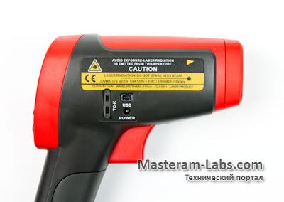 Интерфейсы профессионального инфракрасного пирометра Uni-T UT305C