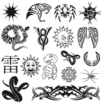 And another set of some nice vector tattoos. Enjoy. Authors unknown.