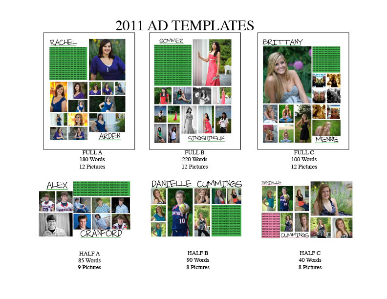 yearbook ad templates free - senior year yearbook third year ads templates