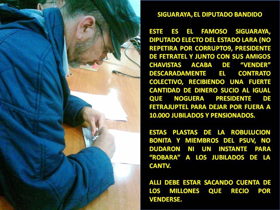 JOSE CHACON DE AJUPSTEL CARACAS - EL VENDE PATRIA DE SIGUARAYA