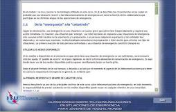 CURSO BASICO SOBRE LAS TELECOMUNICACIONES EN SITUACIONES DE EMERGENCIA