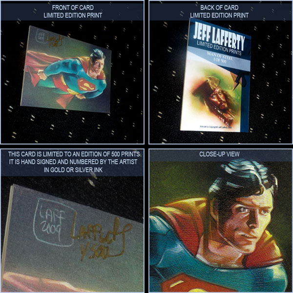 Christopher Reeves as Superman, Limited Edition Signed Print by Jeff Lafferty