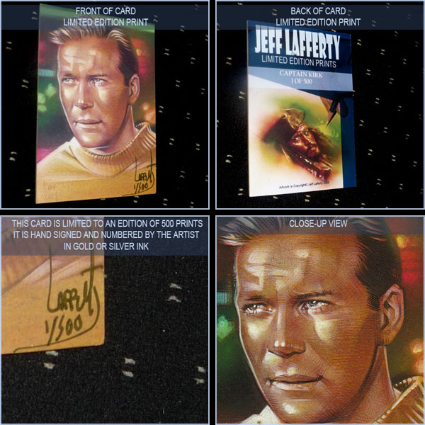 William Shatner as Captain James T. Kirk, Limited Edition Signed Print by Jeff Lafferty