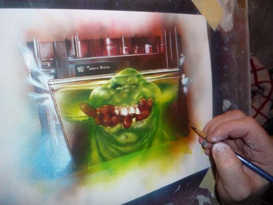 Ghostbusters, Original Painting By Jeff Lafferty