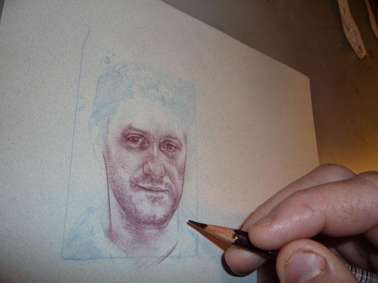 Ghost Hunter Grant Wilson, original art by Jeff Lafferty