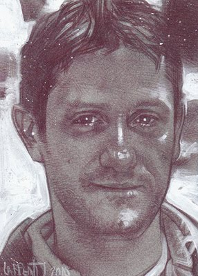 Grant Wilson of Ghost Hunters(Pencil study) ACEO Sketch Card by Jeff Lafferty