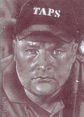 Jason Hawes of Ghost Hunters(Pencil study) ACEO Sketch Card by Jeff Lafferty
